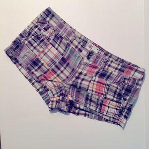 American Eagle Madras Patchwork Plaid Shorts Sz 12